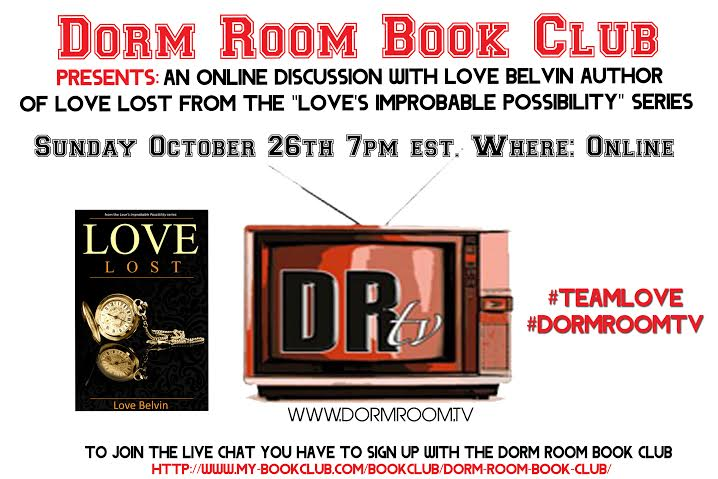 October online chat discussion with author Love Belvin
