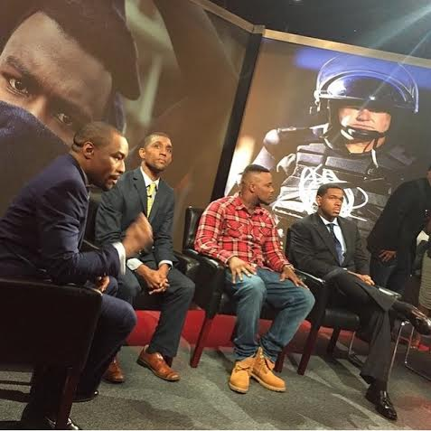 "Magik 200 at BET Networks as a panelist for the special ""Baltimore Speaks."""