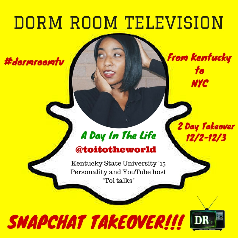 """A Day In The Life"" Dorm Room Television Snapchat Reality show"