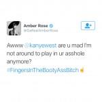 amber rose tweets kanye west