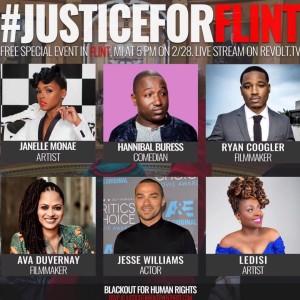 #JusticeForFlint > #Oscars