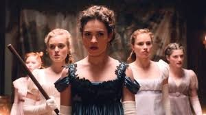 The five Bennet sisters in Pride and Prejudice and Zombies.
